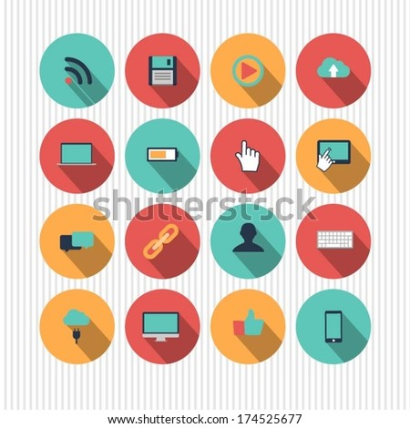 vector technology icons - stock vector