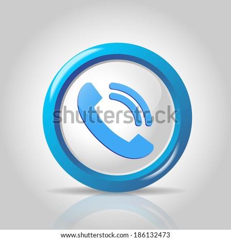 vector telephone icon - stock vector