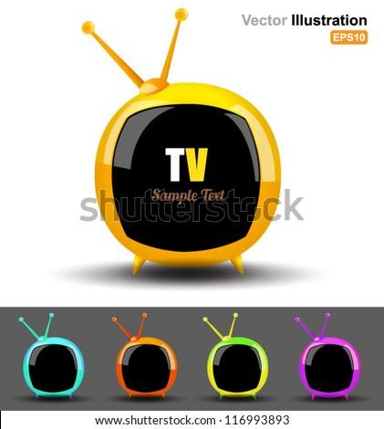 Vector television circle - stock vector