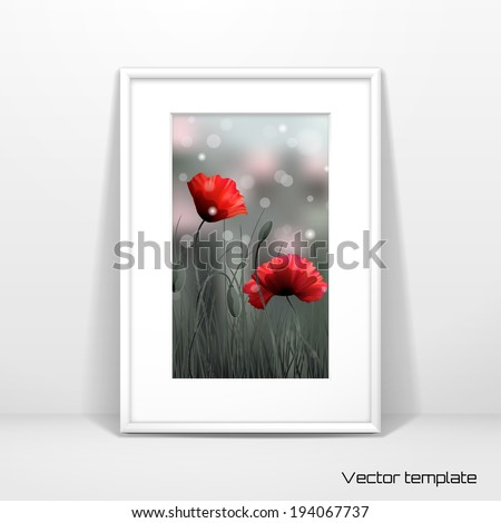 Vector template.  - stock vector