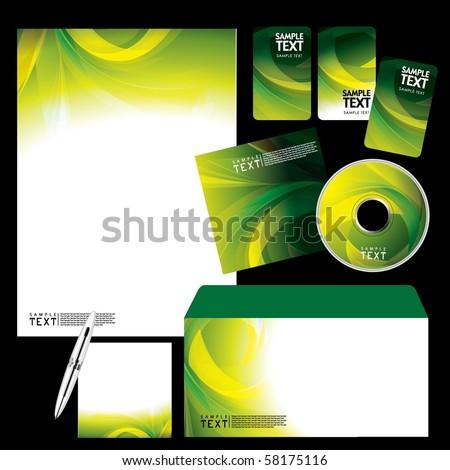 Vector Template Background - stock vector