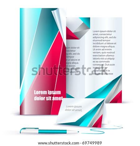 Vector template business set. - stock vector