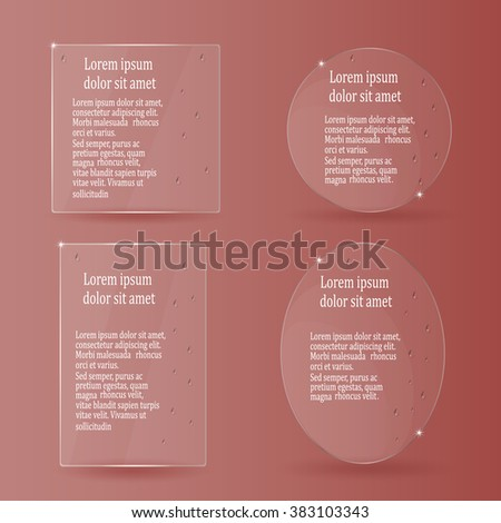 vector template for business text on transparent screen with drops - stock vector