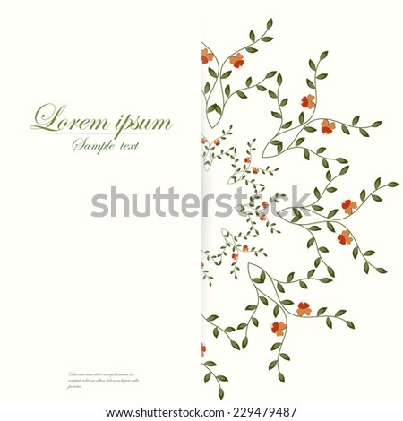 Vector template for folder, brochure, business card and birthday invitation.   - stock vector