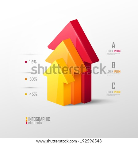 Vector template in modern style. For infographic and presentation - stock vector