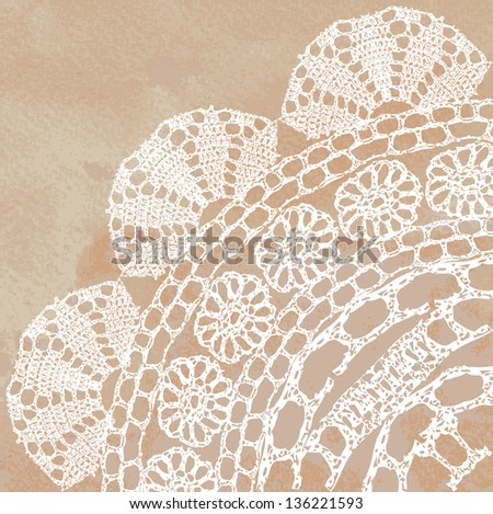 Vector template. Lacy background. - stock vector