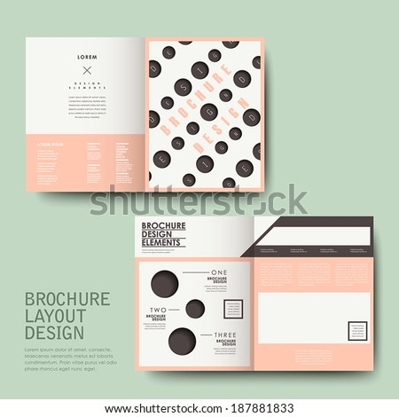vector template of brochure design with repeat dot - stock vector