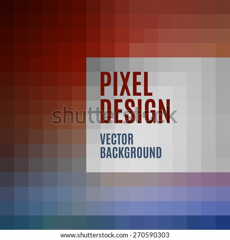 Vector template. Pixel art background. - stock vector