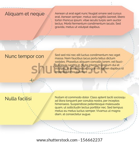 Vector template. Set of infographic elements vector eps 10 - stock vector