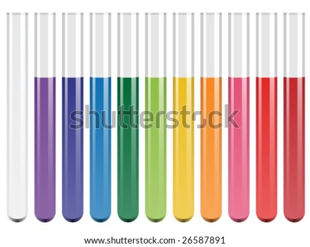 vector test tubes - stock vector
