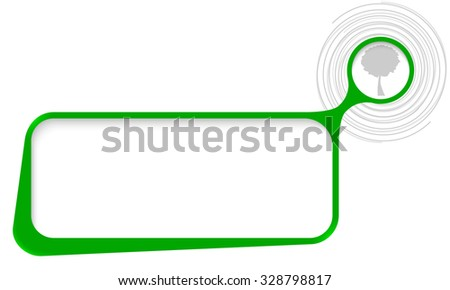 Vector text box for your text with spirals and tree symbol - stock vector