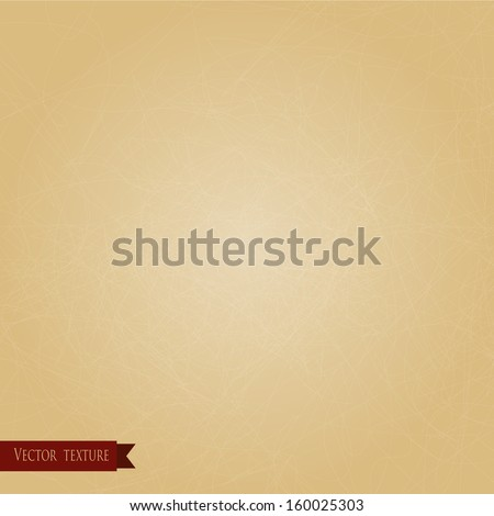 Vector texture of old scratched paper. For design or as a background. Vintage style. - stock vector