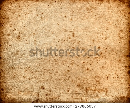 vector texture of the old brown grunge paper  - stock vector