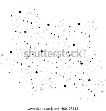 vector texture of watercolor splashes, random, messy in black and white - stock vector