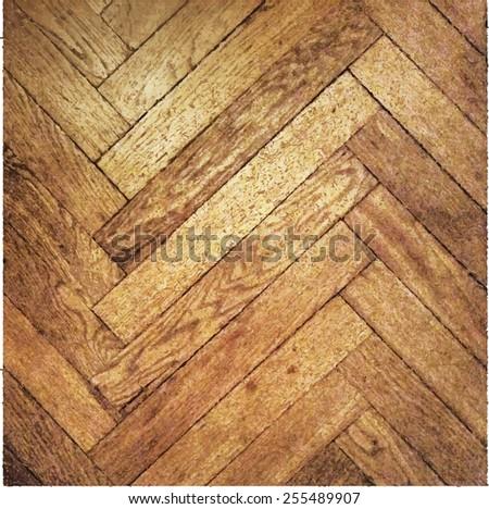 Vector texture of wooden parquet floor.  Brown and ocher - stock vector