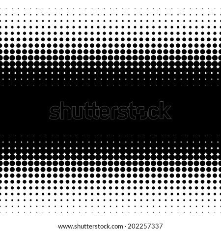 Vector texture with black dots on a white background - stock vector