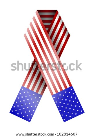 vector 4th of july ribbon isolated on white. eps 10 - stock vector