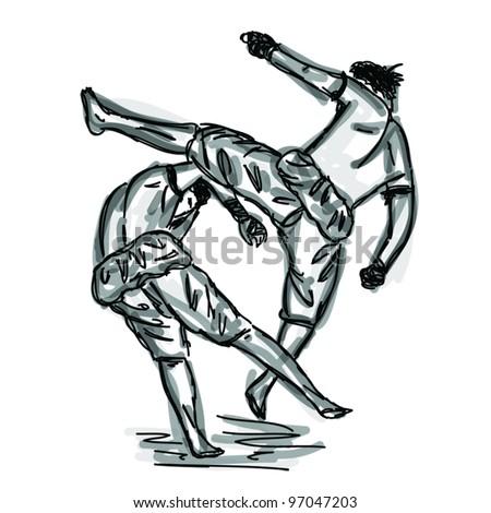 Vector Thai Boxing Collection : Muay Thai martial art popular around the world. - stock vector