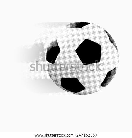 Vector - The classic soccer ball - stock vector