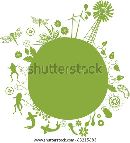 vector - the green evolution - stock vector