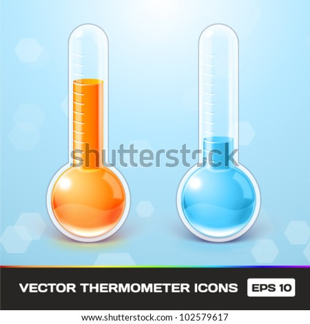 Vector Thermometer Icons - stock vector