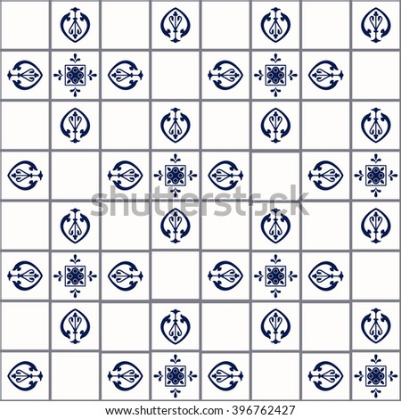 Vector tiles. Moroccan tiles Seamless Pattern Tile for Design. Tile Background Spanish tile. Tile Wallpaper, Ceramic tile. Textile Tile. Middle Ages Tile.  Ornament Tile. Texture Tile Template - stock vector
