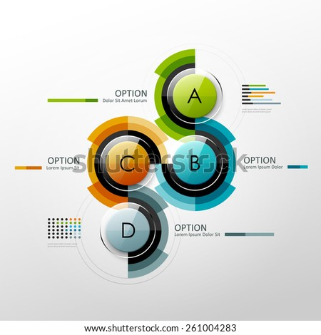 Vector timeline infographic template. Design elements for presentation or web design. - stock vector