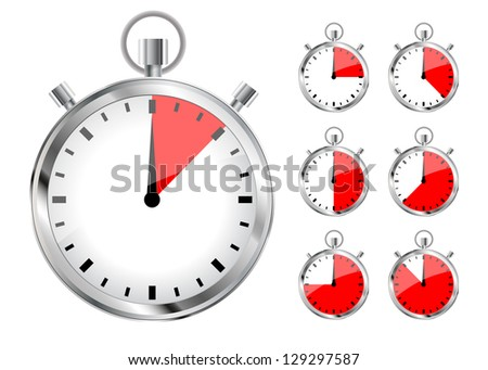 Vector timers - stock vector