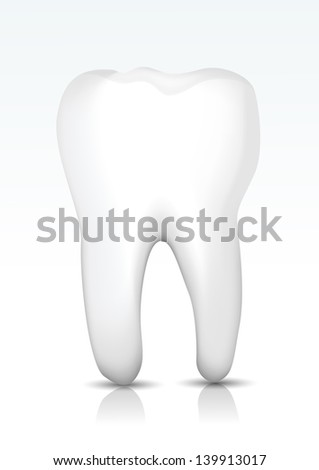 Vector tooth - stock vector