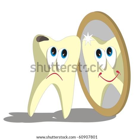Vector. Tooth cartoon set 006 - stock vector