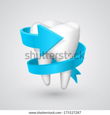 Vector tooth spiral arrow - stock vector