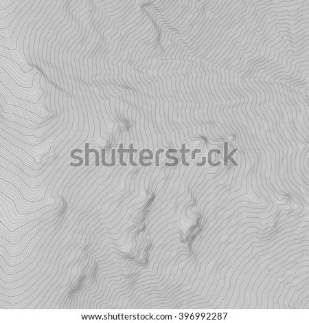 Vector topography on grey background - stock vector