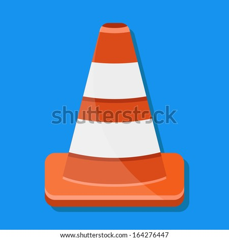 Vector Traffic Cone Icon - stock vector