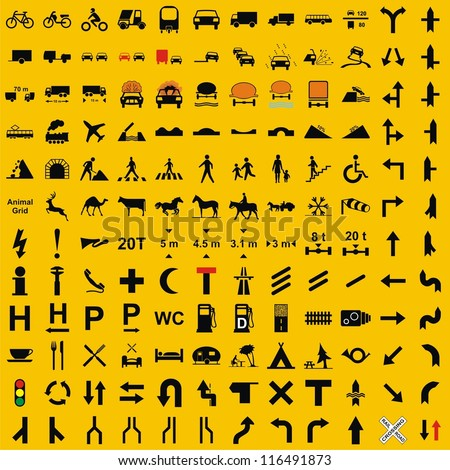 Vector - Traffic Icons Set - stock vector