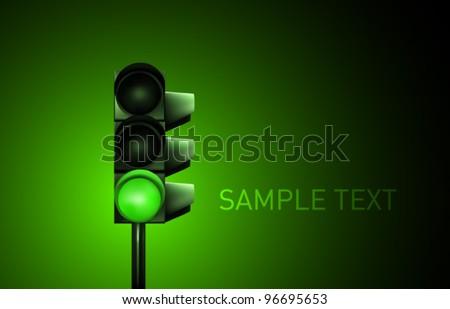 Vector Traffic Lamp Design - stock vector