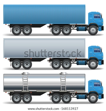 Vector Trailer Icons - stock vector