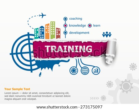 Vector training and breakthrough paper hole with ragged edges. Communication in the global computer networks - stock vector