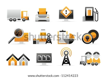 vector transportation icon - stock vector