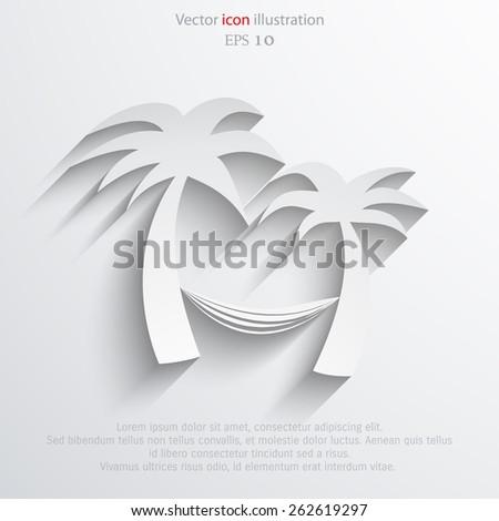 Vector travel flat icon illustration. - stock vector
