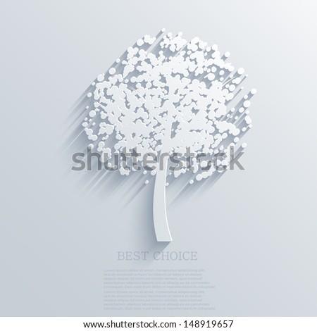 Vector tree background. Eps10 - stock vector