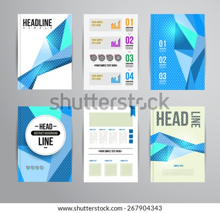 Vector trendy brochur template. Colorful design illustration for print magazine, flyer, presentation. with infographic and headline. - stock vector