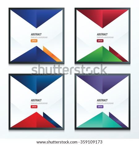 vector triangle design 4 item set. - stock vector