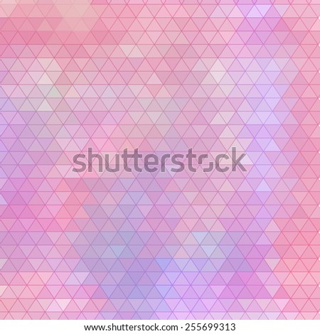 Vector triangle fantasy background. Artistic vector design for banners, greeting cards. EPS10  - stock vector