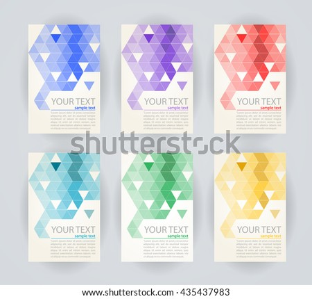 Vector triangle geometric banner illustration.  - stock vector