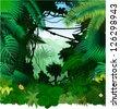 Vector tropical rainforest Jungle - stock vector