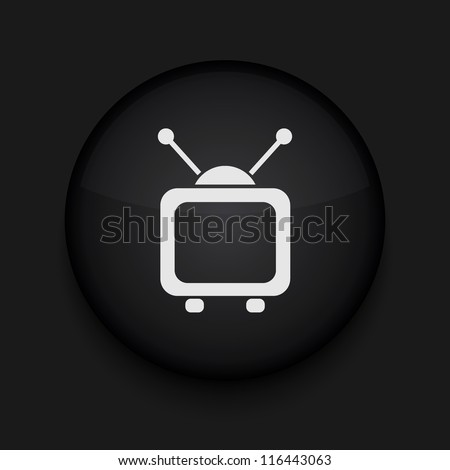 Vector tv icon. Eps10. Easy to edit - stock vector