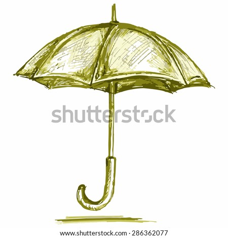Vector umbrella from the rain - stock vector