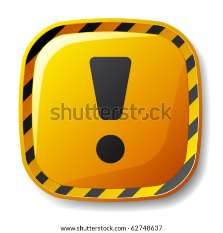 vector under construction square button - stock vector
