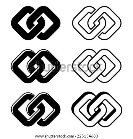 vector unity black white symbols - stock vector
