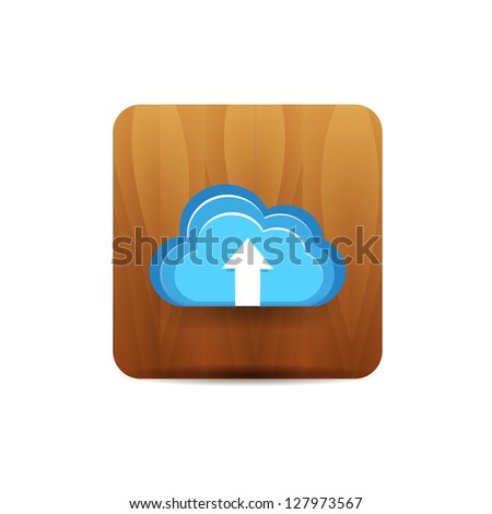 Vector upload to cloud icon - stock vector